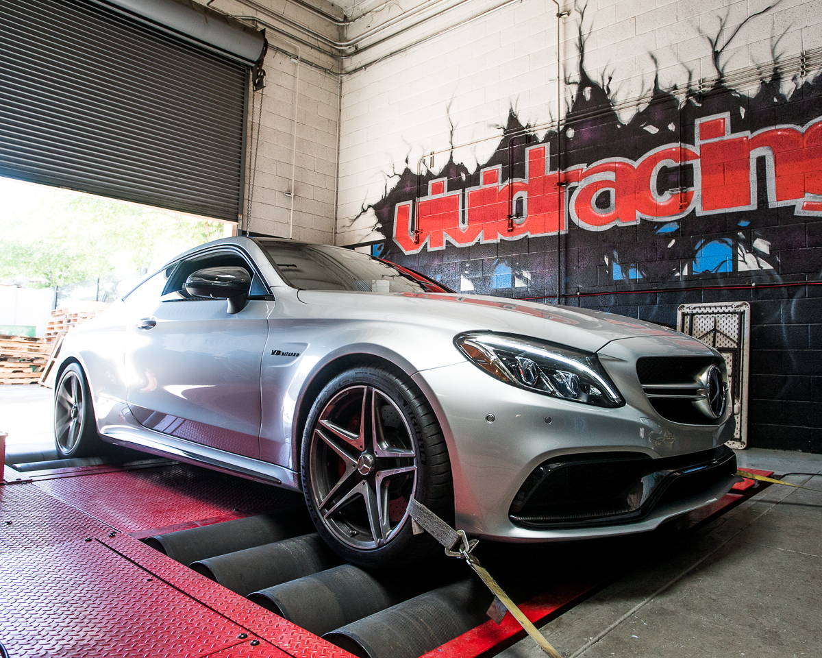 Mercedes C63s Coupe ECU Flash + Downpipes with Video and Dyno
