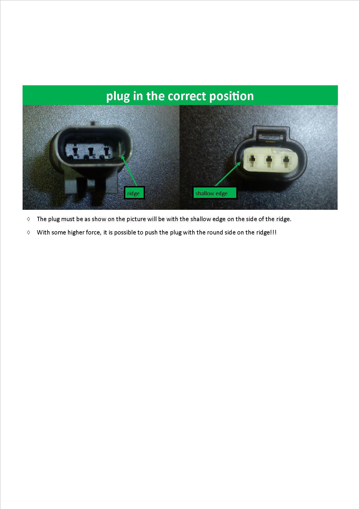 Plug Correct Position