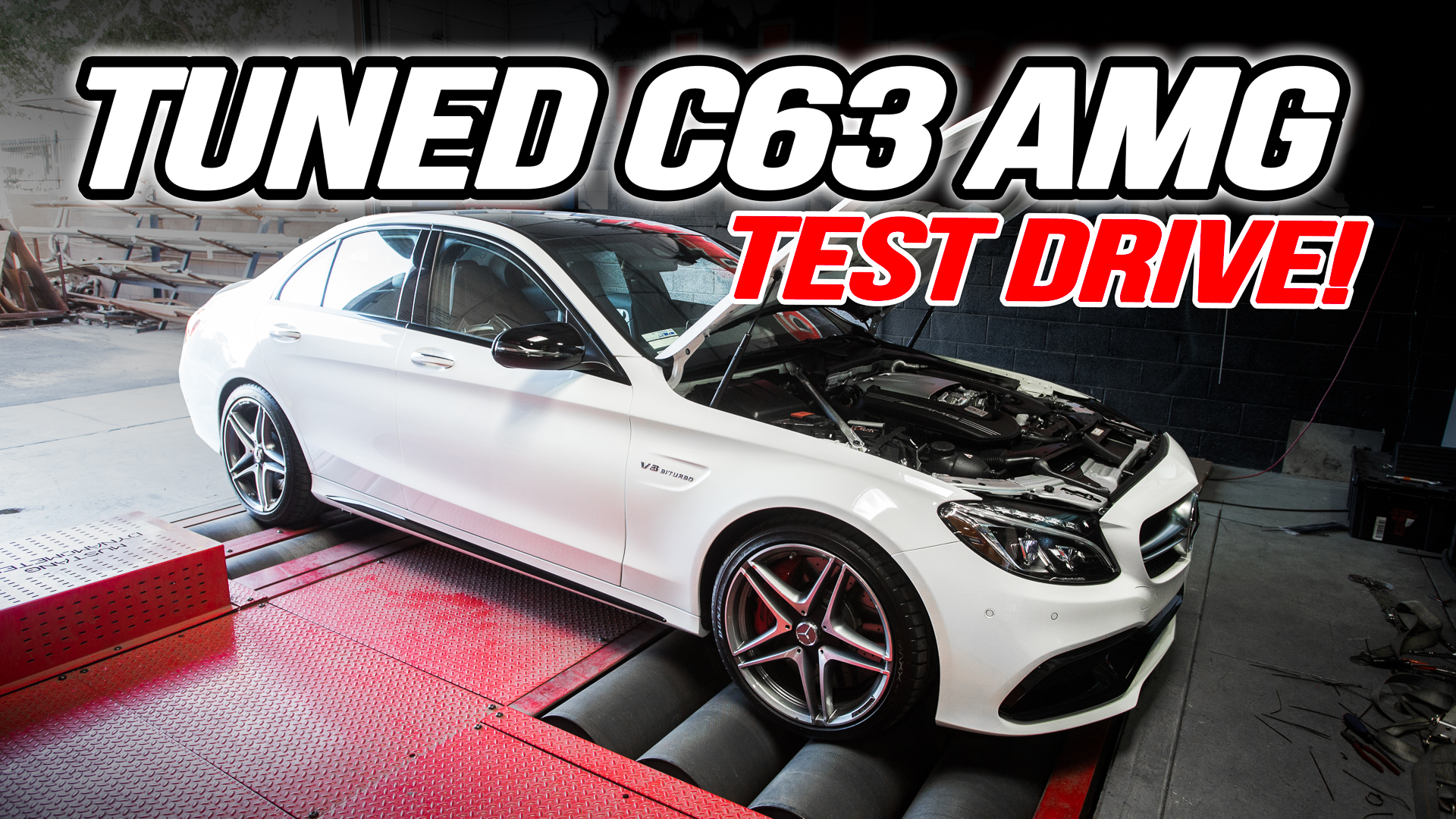 Mercedes C63 AMG Tuning Box Test Drive Video