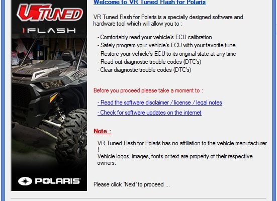 Polaris OBD2 ECU Flashing Instructions